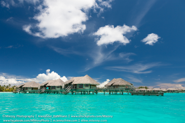 Bora Bora Lagoon Stilt Houses, French Polynesia