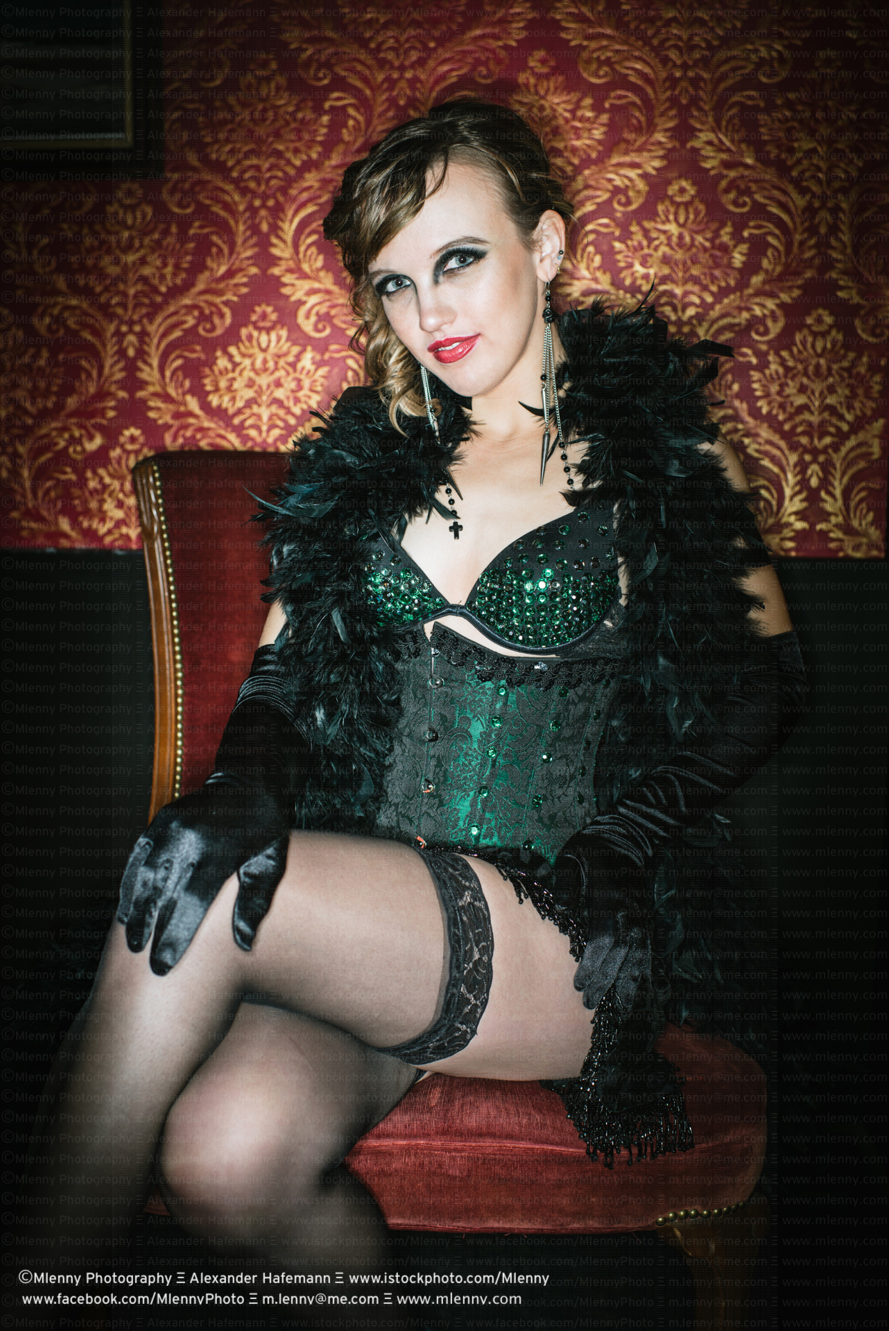 Burlesque, Woman Portrait