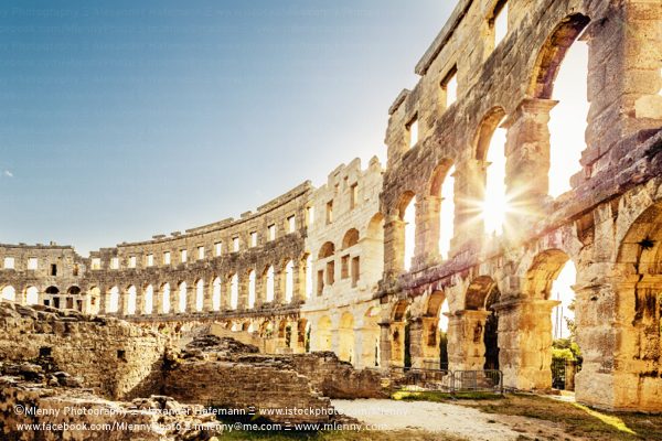 Ancient Roman Amphitheater Pula, Croatia