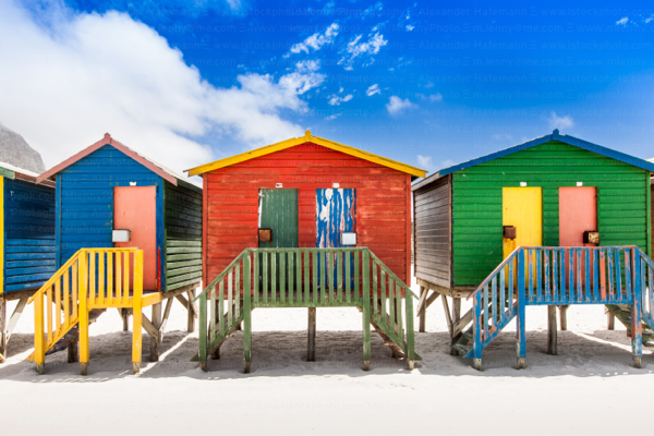Beach Huts, Muizenberg, South Africa