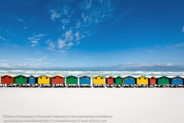 Colorful Beach Huts, Muizenberg, South Africa