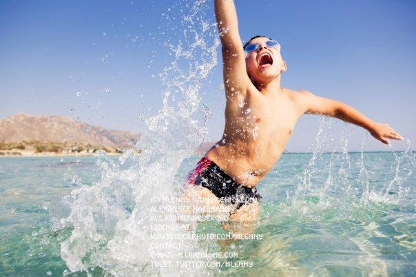 Child having fun at the Beach.