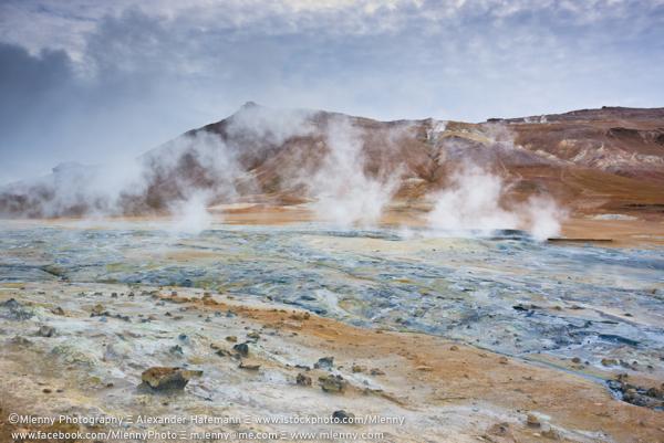 Surreal Landscape, Namafjall, Iceland