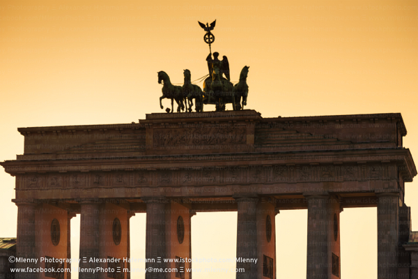Berlin Brandenburg Gate Sunset Germany
