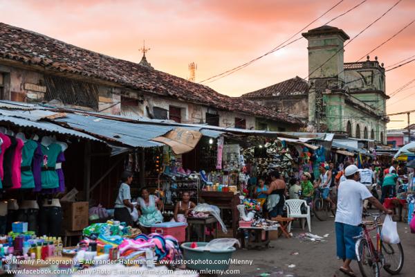Street Market at Sunset, Granada, Nicaragua