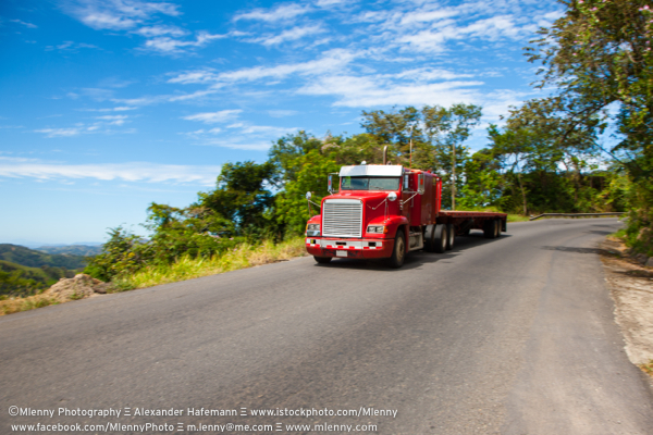 Truck on Panamericana Highway, Central America