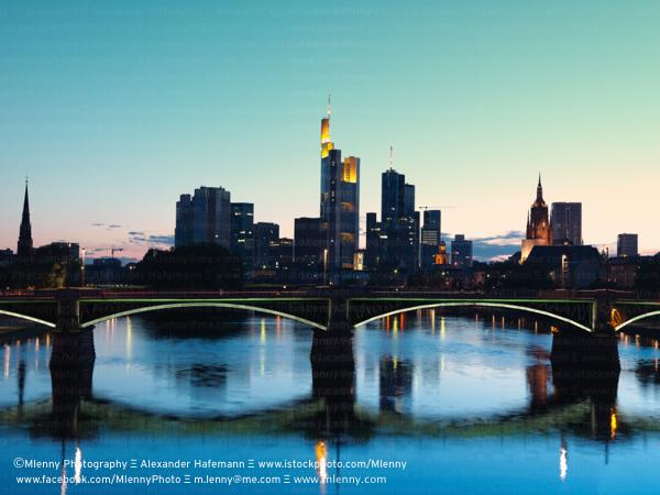 Frankfurt Skyscraper Silhouettes, Germany