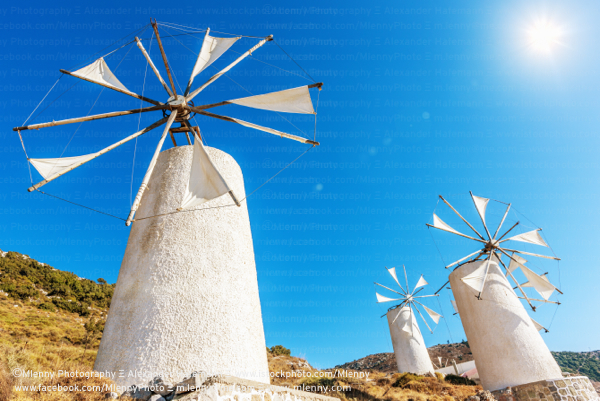 Traditional Windmills, Crete, Greece