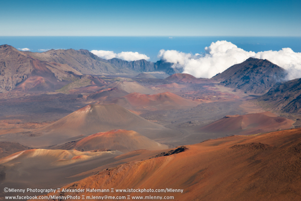 Haleakala Crater Volcano, Maui Island, Hawaii, USA