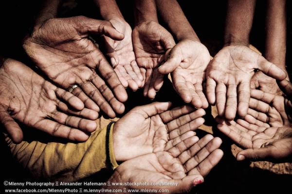 Begging Hands, India