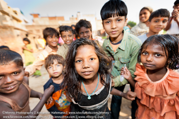 Children of New Delhi, India