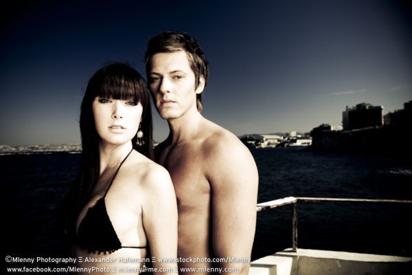 Couple at the Beach, Marseilles, France
