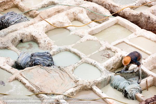 Fez Medina Tannery Worker, Morocco