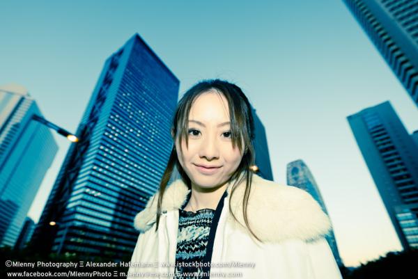 Urban Woman Shinjuku Tokyo Portrait