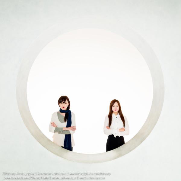 A Circle Squared, Modern Geishas Portrait, Tokyo, Japan