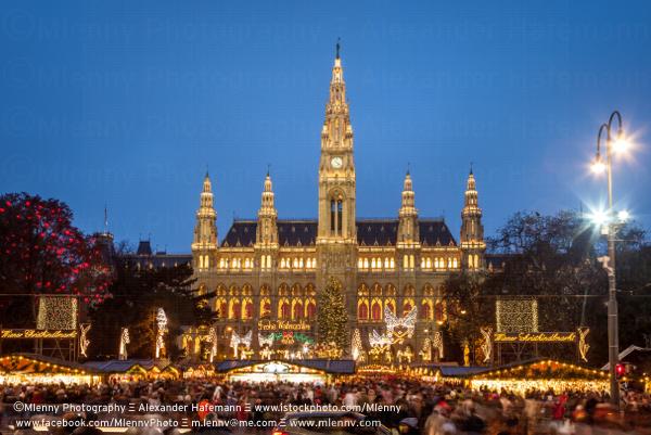 Christkindlmarkt New Townhall Vienna Austria