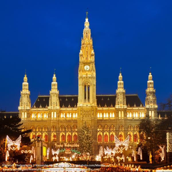 Neues Rathaus Townhall Christmas Market, Vienna, Austria