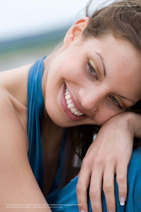 Bright Smile, Woman Portrait