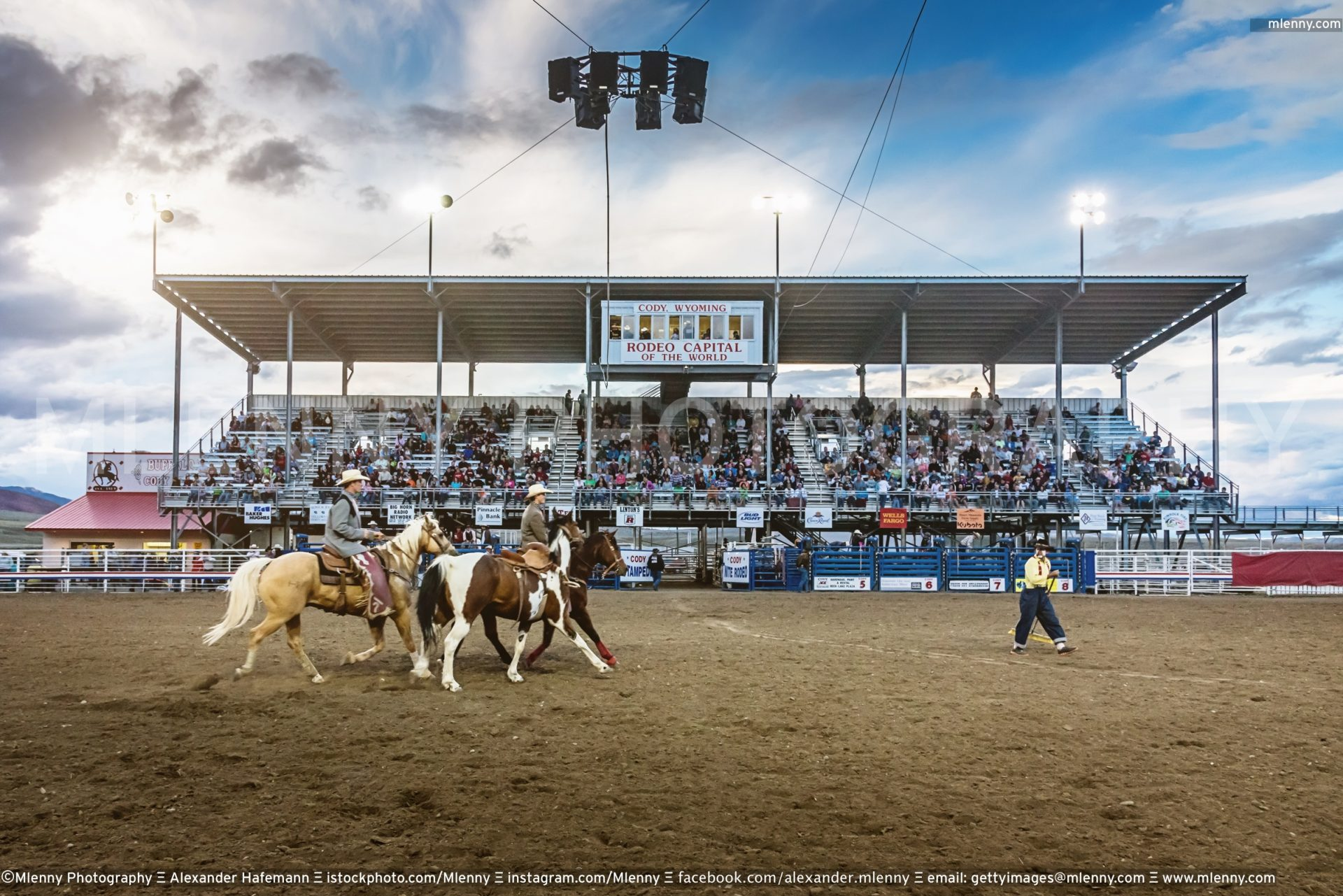 Cowboys Rodeo Stampede Arena, Wyoming USA