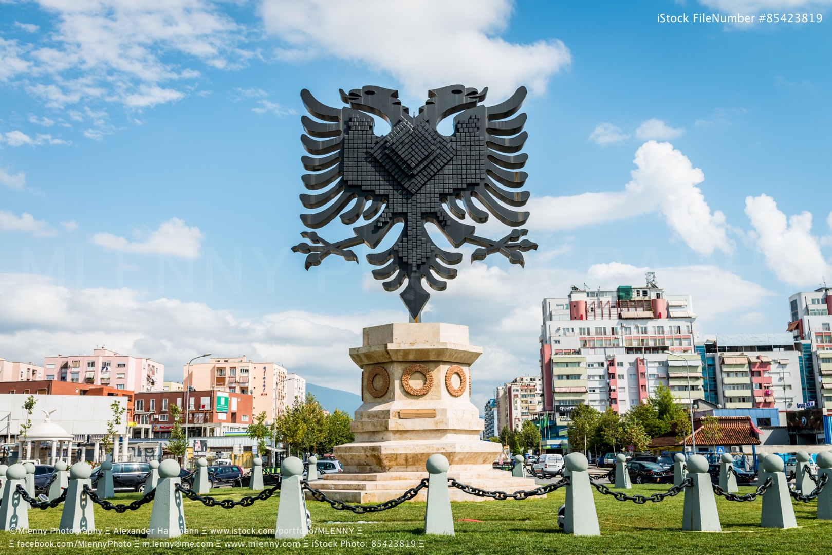 Coat of Arms Tirana City Albania