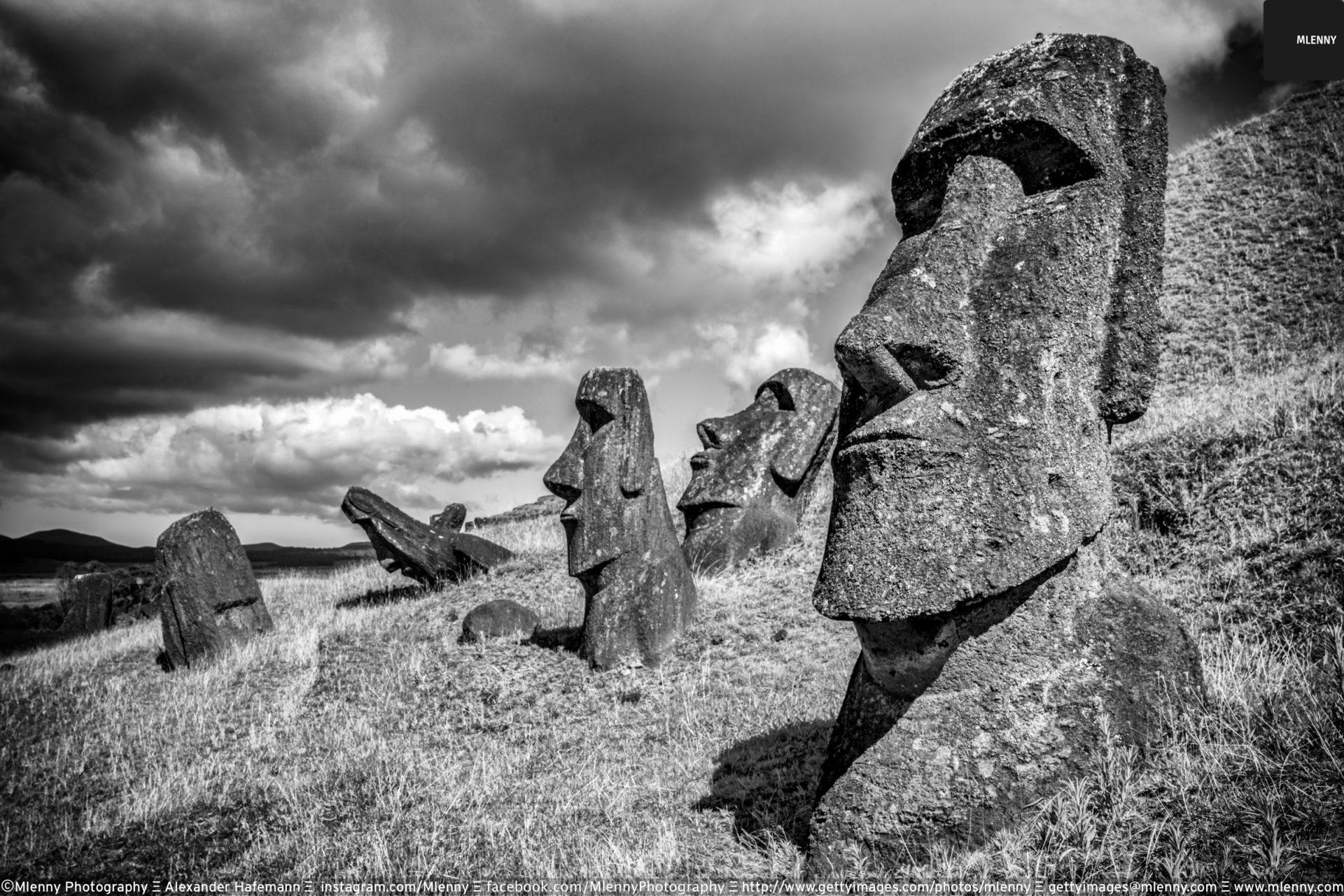 Rano Raraku Moai Statues, Easter Island