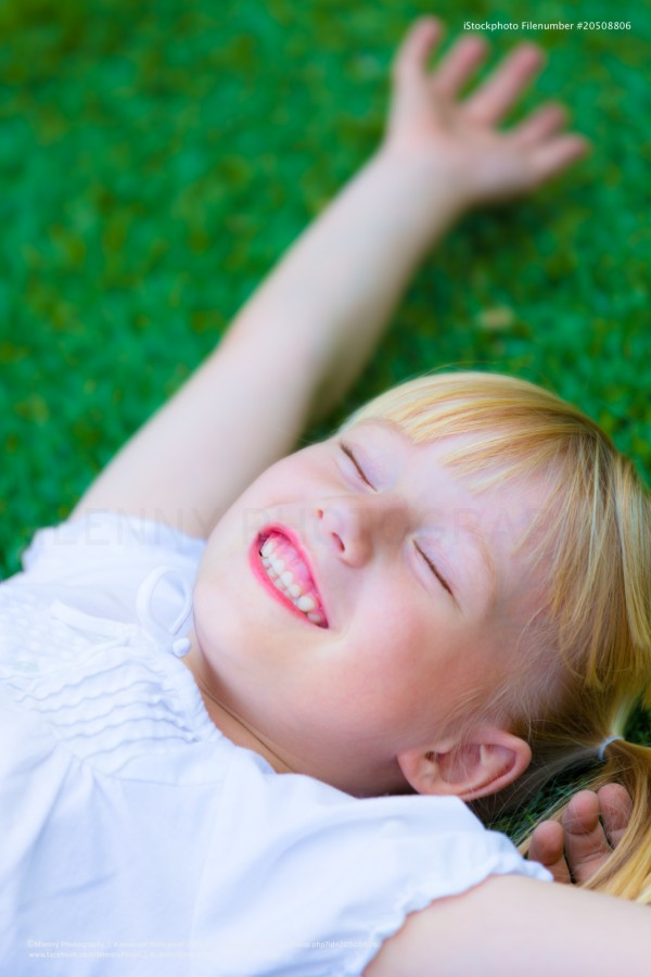 Happiness, Summer Meadow Little Girl Portrait