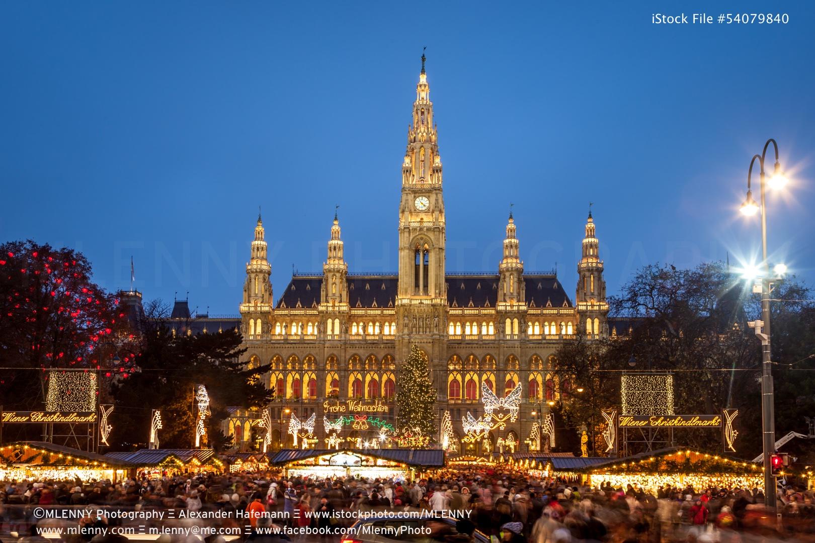 Christmas Market Vienna Christkindlmarkt New Townhall, Austria