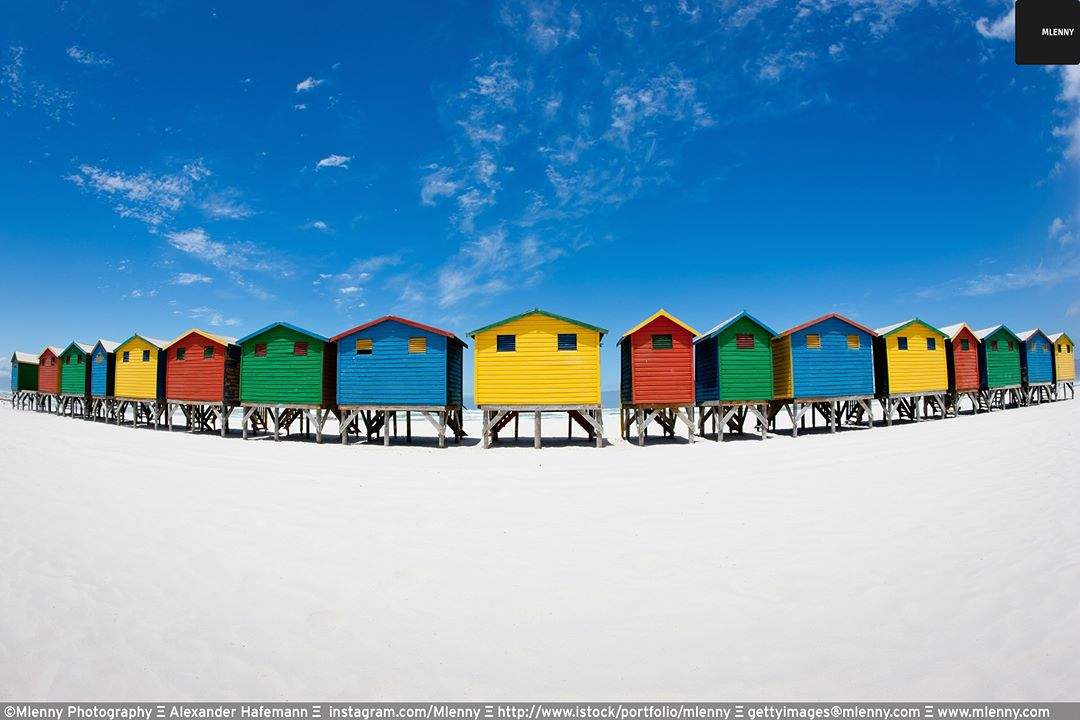 Colorful Beach Huts Muizenberg