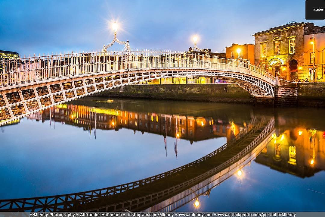 Ha'penny Bridge Reflections