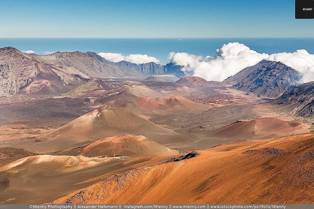 Haleakala Crater Volcanic Landscape Island