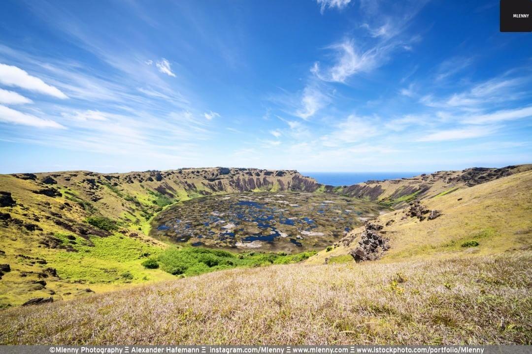 Rano Kau Volcano Crater Easter Island, Rapa Nui, Chile