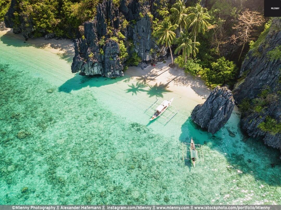 A real tropical beach paradise: Entalula Island Beach Lagoon El Nido