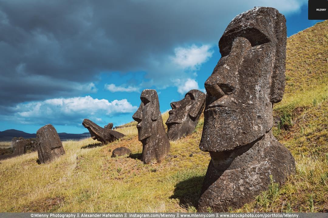 Rano Raraku Moai Statues Easter Island