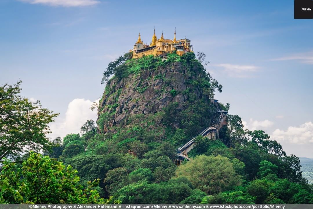 Taung Kalat Monastery Mount Popa, Myanmar