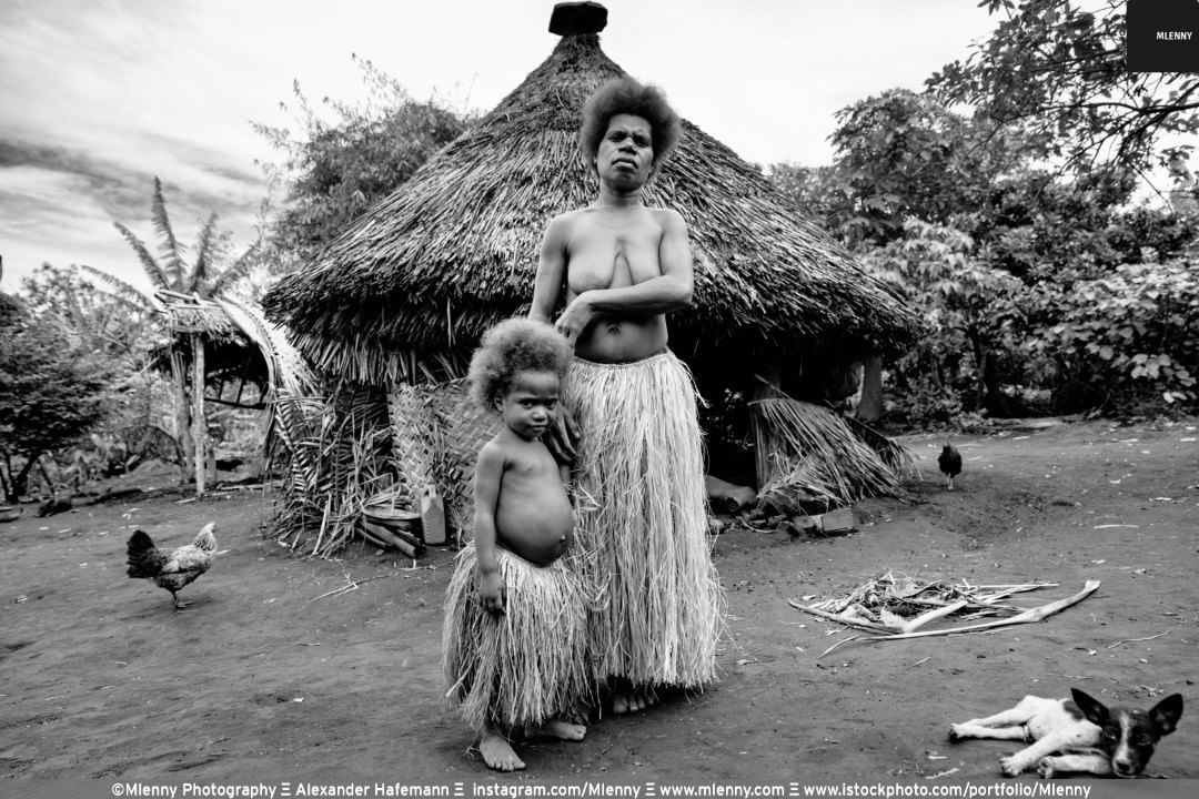 Mother and her little Girl ,Tanna Island, Vanuatu