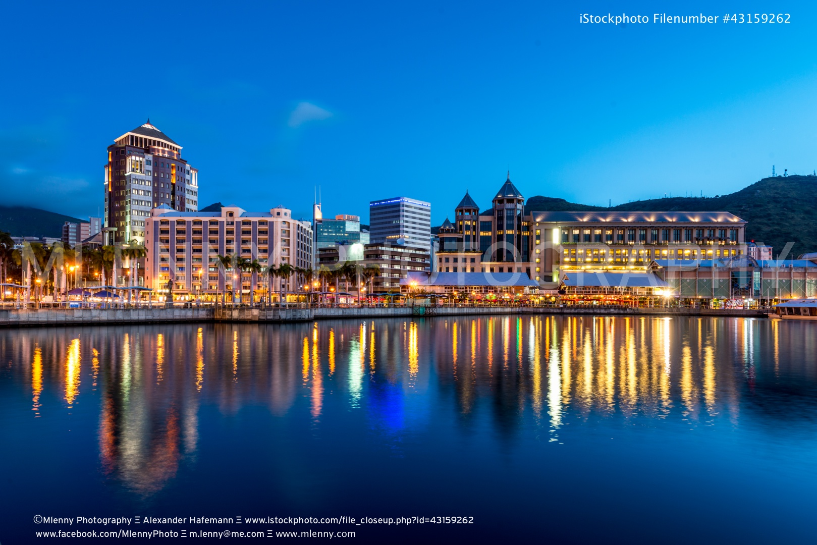 Port Louis by Night, Mauritius