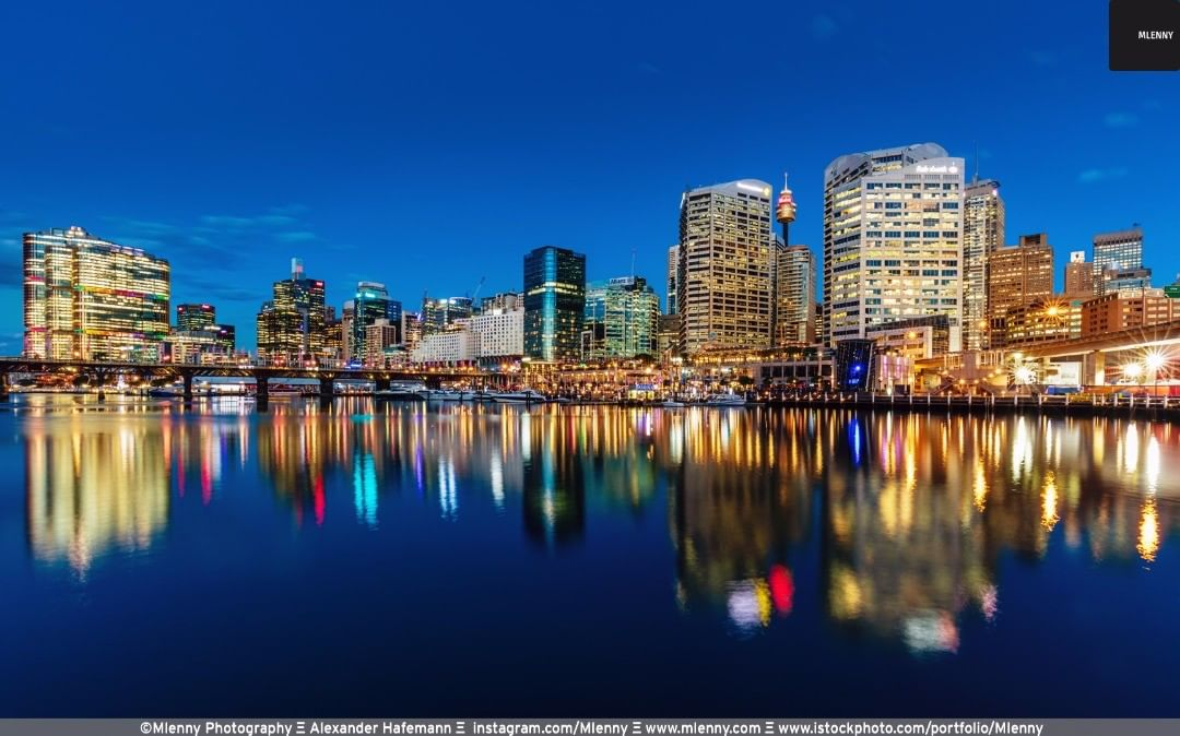 Sydney Darling Harbour Reflections, Australia