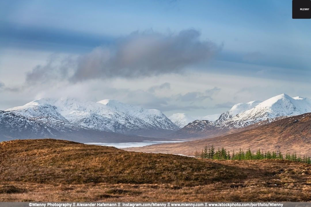 Scottish Highlands Snowcapped Mountains, Scotland