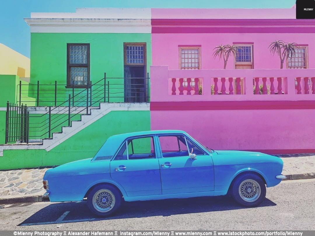 Colorful Bo-Kaap, Cape Town, South Africa