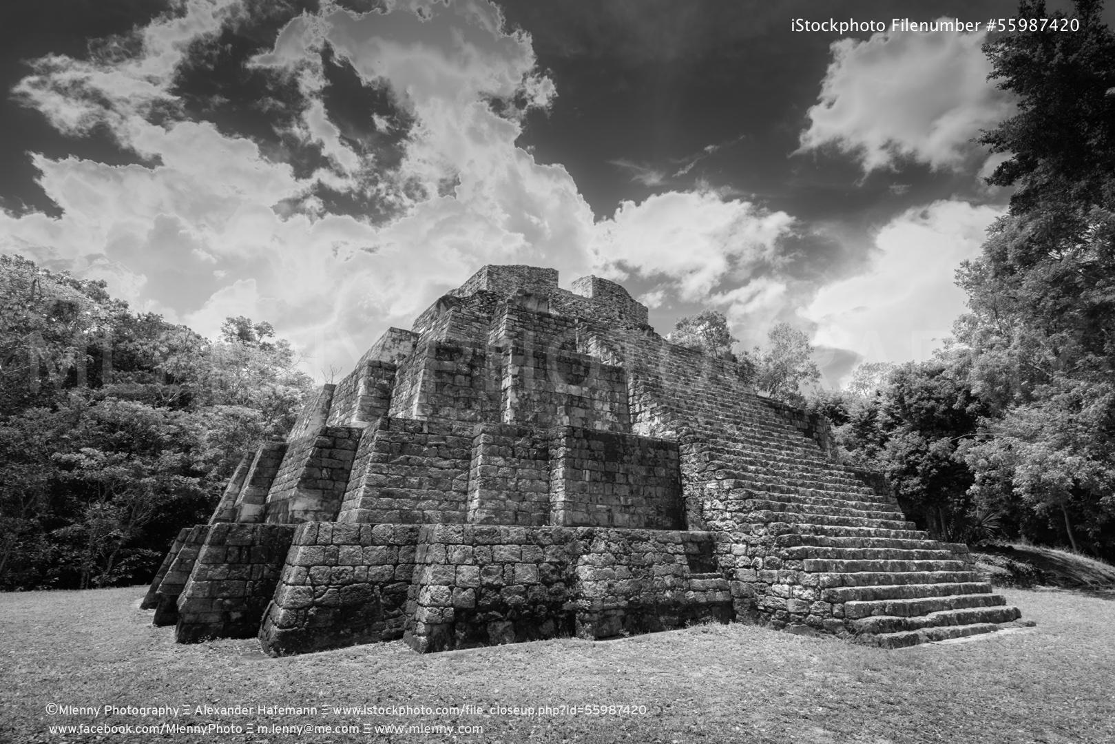 Yaxha Temple Mayan Acropolis Guatemala