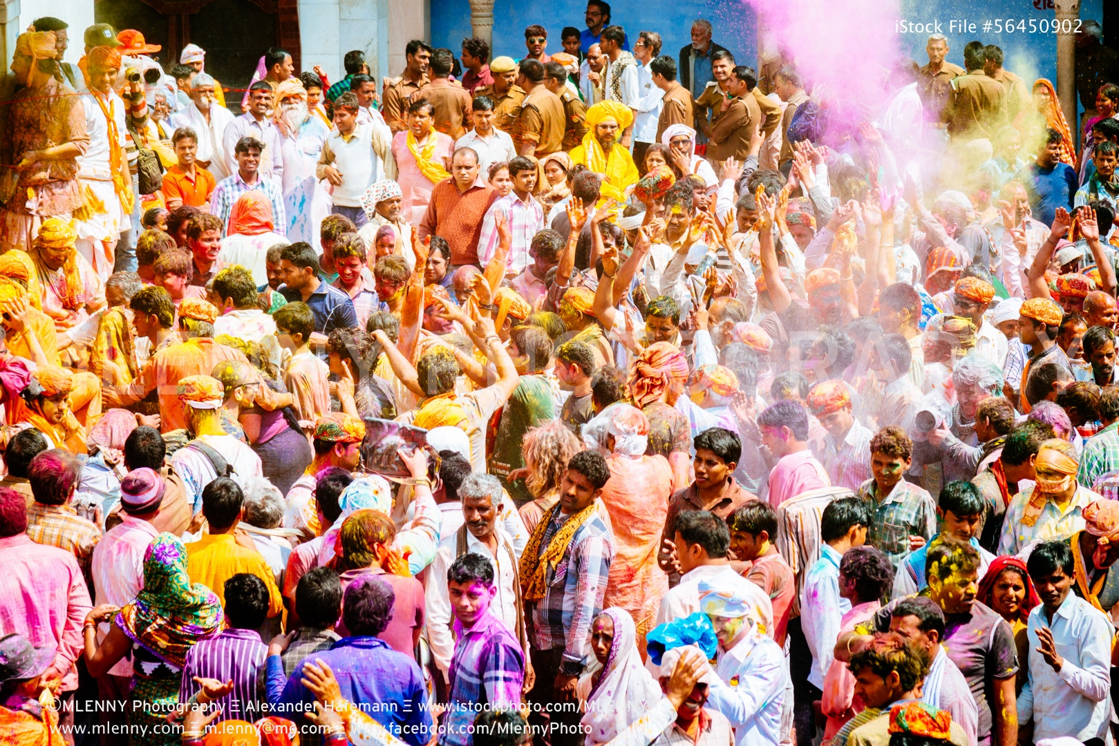 Holi Festival Barsana Rajasthan India