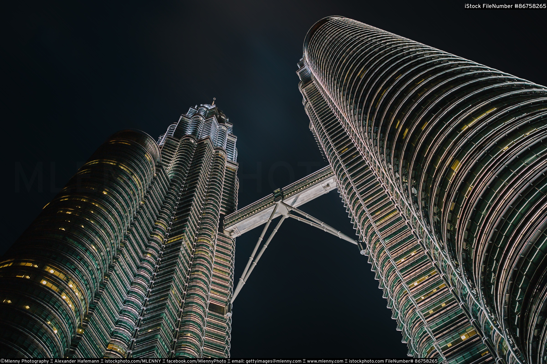 Kuala Lumpur Petronas Tower at Night, Malaysia