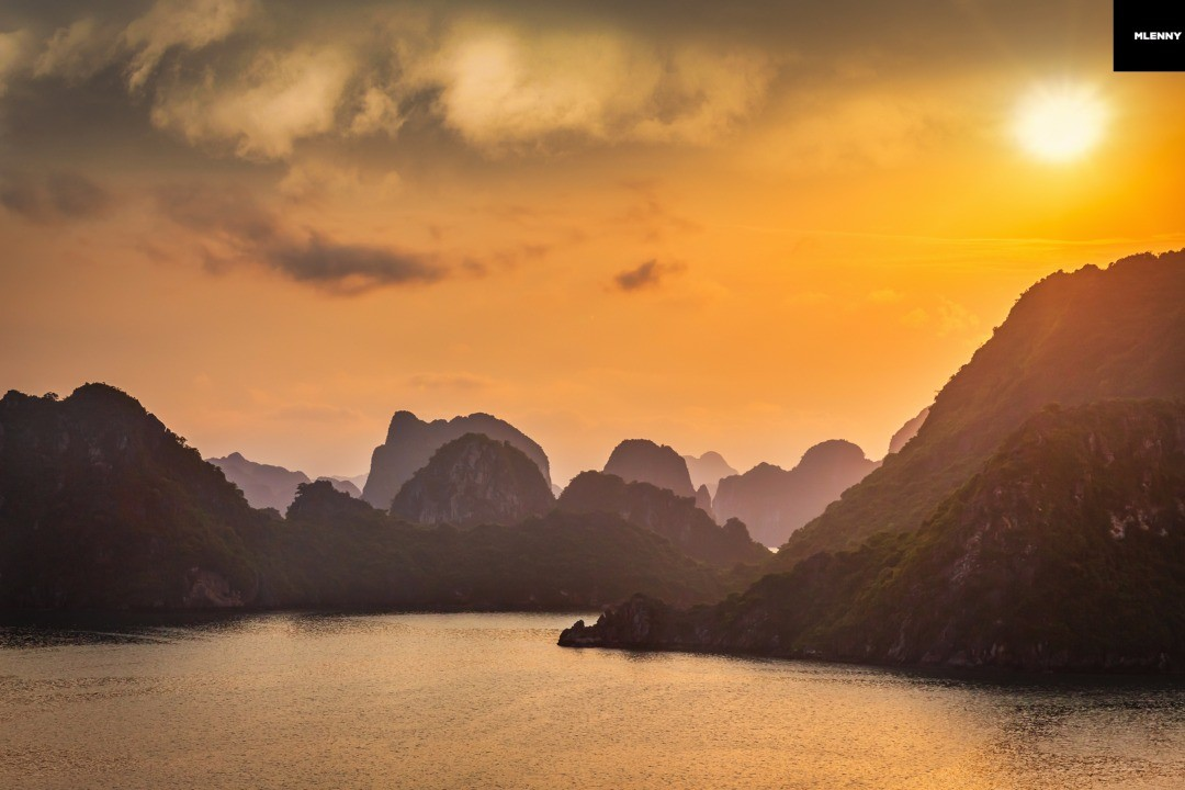 Halong Bay Sunset Twilight, Vietnam
