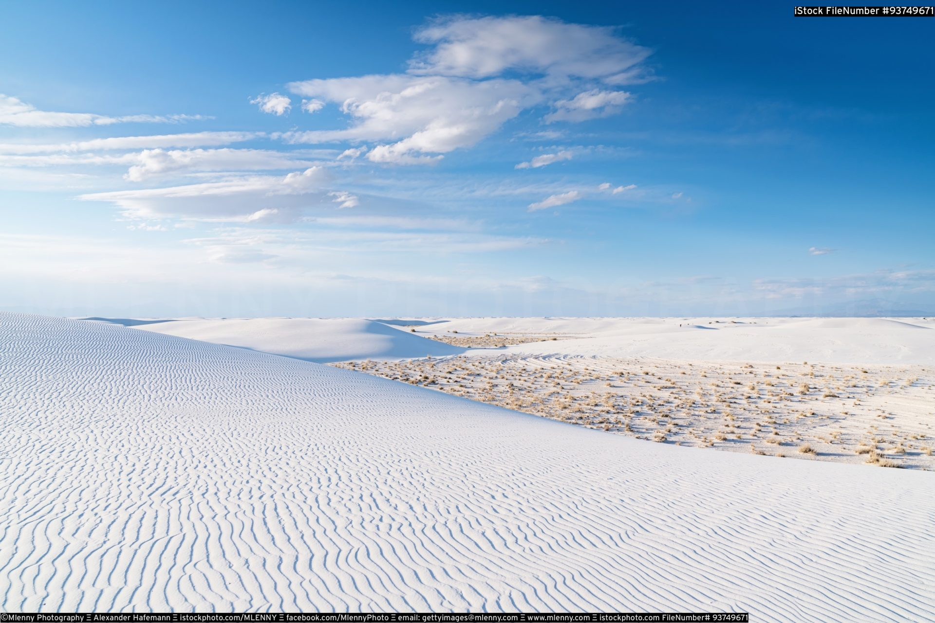 White Sands National Monument Desert New Mexico