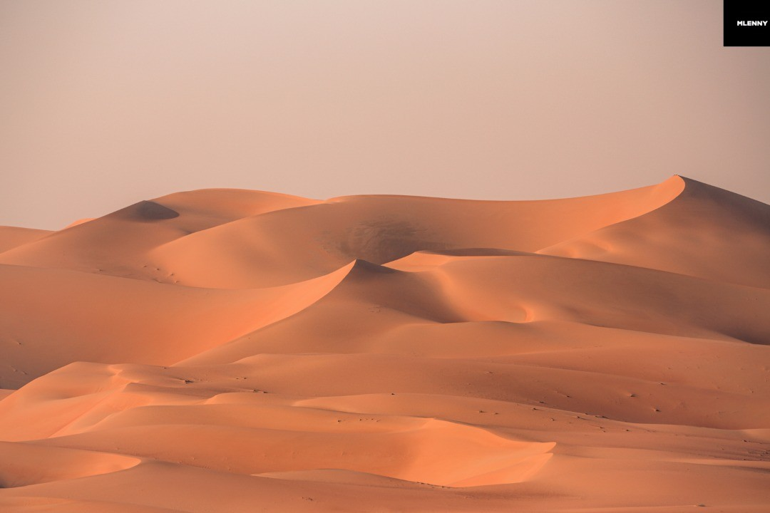 Empty Quarter Dunes at Sunset. Liwa Oasis, United Arab Emirates