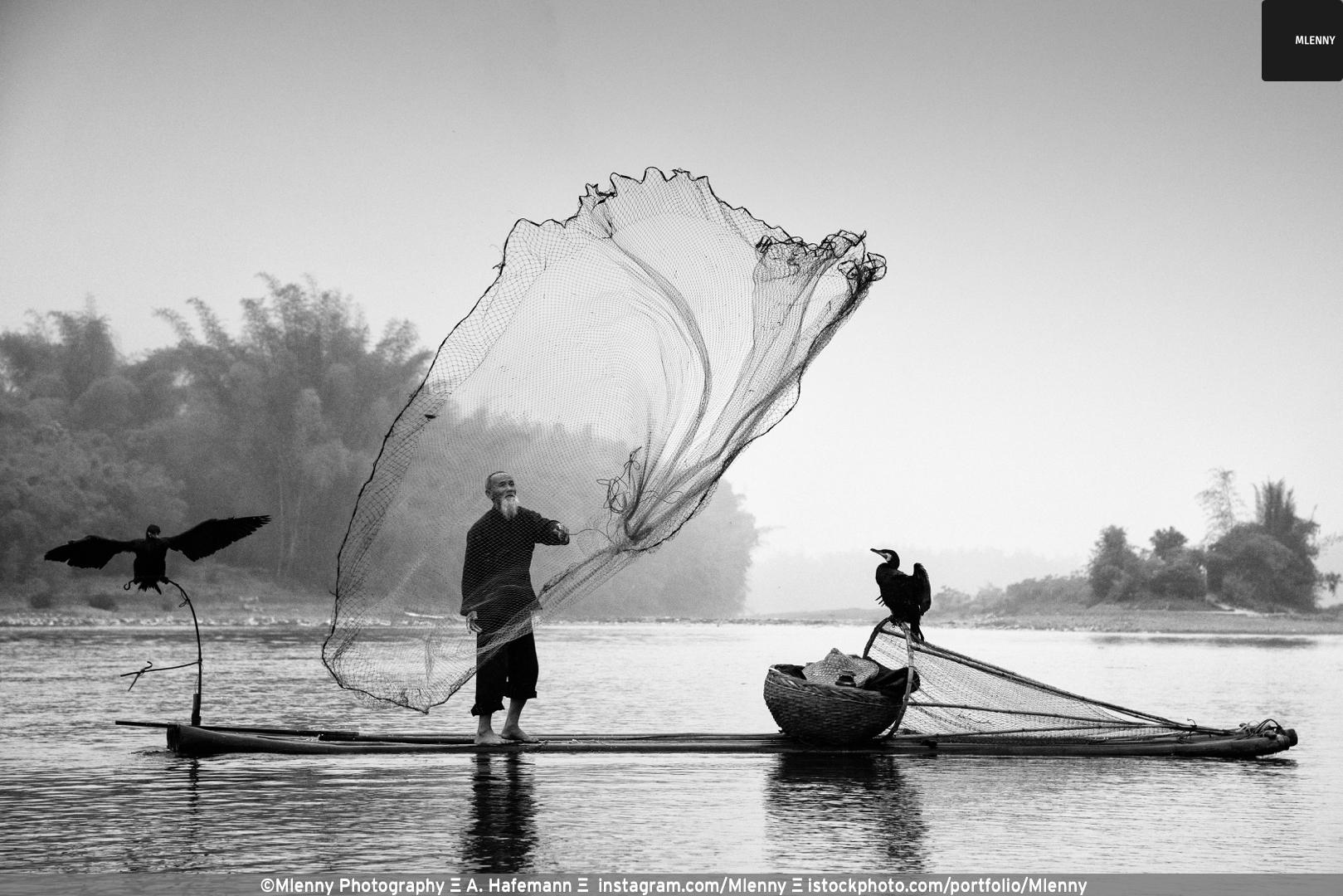 Chinese Traditional Fisherman Li River,China