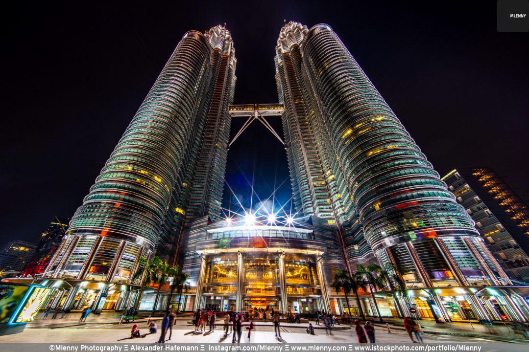 Night over Petronas Twin Towers, Kuala Lumpur, Malaysia