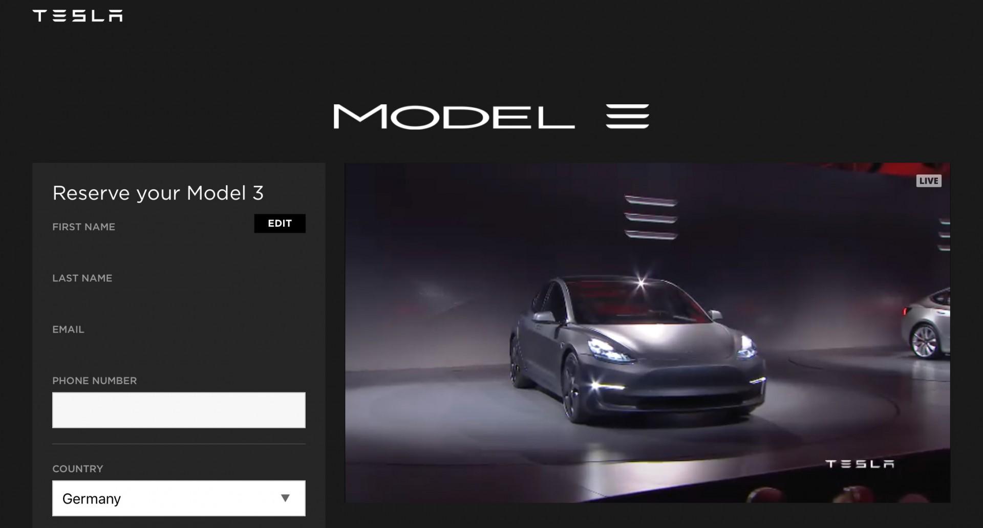 Tesla Model 3 Live Video